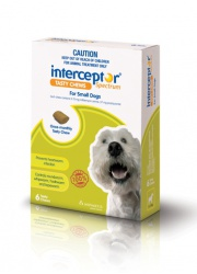 interceptor spectrum tasty chews small dog 4-11kg green 6 pack